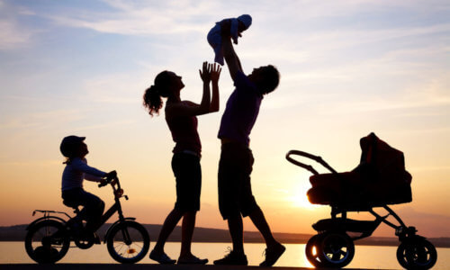 Happy Family With Health Cover